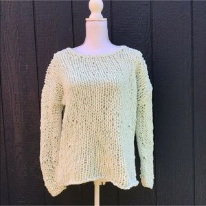 Anthropologie Moth Minty Green Soft Sweater